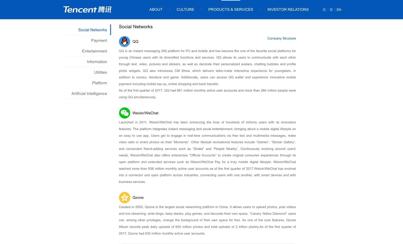 Tencent: Connecting People for A Greater Future - Product Reviews
