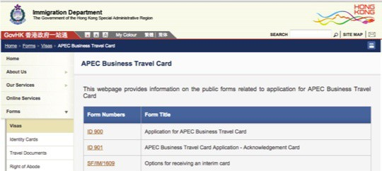 How to get your apec business travel card ie asia vip card my friend larry wanted me to add there is a way to get the apec card from hong kong his message colourmoves