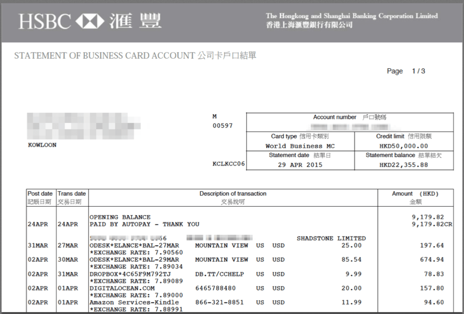 So Yes Youll Pay In HKD And Then If You Have USD Your Bank Need To Convert That The Bill Means Can Do 2