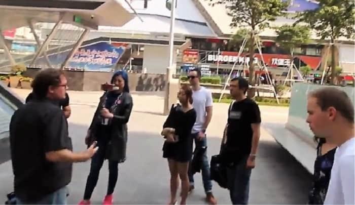 Tour on the streets of Hua Qiang Bei Shenzhen China